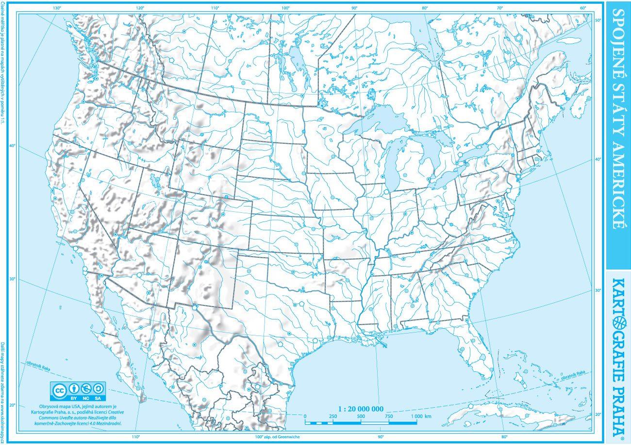 Americké spojené mapa státy Spojené státy:
